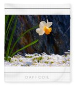 Daffodil Poster Fleece Blanket