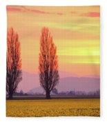 Daffodil Sunrise Fleece Blanket