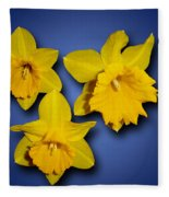 Daffodil Trio Fleece Blanket