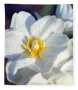 Daffodil Up Close Fleece Blanket