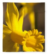 Daffodil Yellow Fleece Blanket