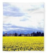 Daffodils By The Million Fleece Blanket