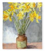 Daffodils In A Pot. Fleece Blanket