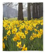 Daffodils In St James Park London Fleece Blanket