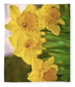 Daffodils V2 Fleece Blanket