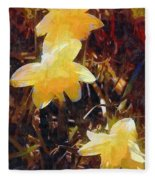 Daffs Gone Goth Fleece Blanket