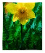 Daffy Dill Fleece Blanket