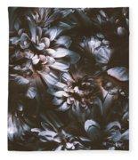 Dahlia Abstraction Fleece Blanket