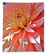 Dahlia Blush Fleece Blanket