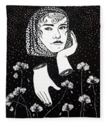 Dahlia Fleece Blanket
