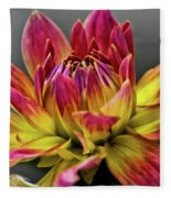 Dahlia Flame Fleece Blanket