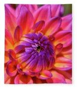 Dahlia Flower 017 Fleece Blanket