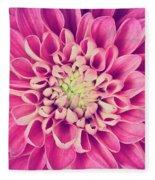 Dahlia Flower Petals Pattern Close-up Fleece Blanket