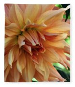 Dahlia In Bloom Fleece Blanket