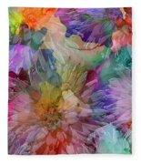 Dahlias Fleece Blanket