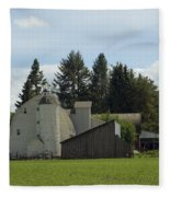 Dahmen Barn Historical Fleece Blanket