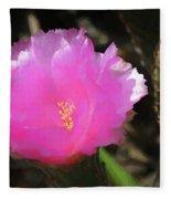 Dainty Pink Cactus Flower Fleece Blanket