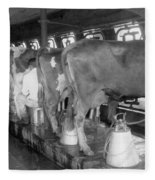 Dairy Farm, C1920 Fleece Blanket