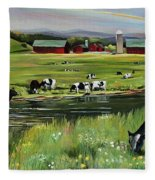 Dairy Farm Dream Fleece Blanket