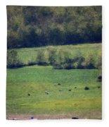 Dairy Farm In The Finger Lakes Fleece Blanket