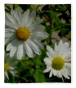 Daisies By The Number Fleece Blanket