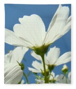 Daisies Floral Art Prints Canvas Daisy Flowers Blue Skies Fleece Blanket