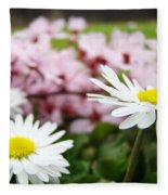 Daisies Flowers Art Prints Spring Flowers Artwork Garden Nature Art Fleece Blanket