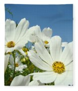 Daisies Flowers Art Prints White Daisy Flower Gardens Fleece Blanket