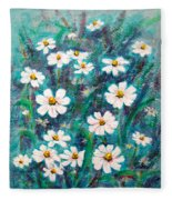 Daisies Golden Eyed Fleece Blanket