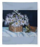 Daisies In Still Life Fleece Blanket