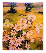 Daisies In The Sun Fleece Blanket