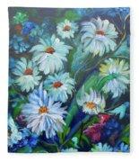Daisies  Fleece Blanket