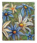 Daisies Pastel Fleece Blanket
