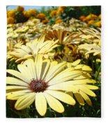 Daisies Yellow Daisy Flowers Garden Art Prints Baslee Troutman Fleece Blanket