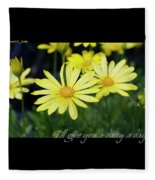 Daisy A Day Fleece Blanket