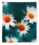 Daisy Blue Fleece Blanket