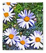 Daisy Flower Garden Abstract Fleece Blanket