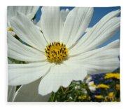 Daisy Flower Garden Artwork Daisies Botanical Art Prints Fleece Blanket