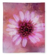 Daisy In Magenta Fleece Blanket