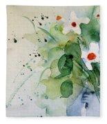 Daisy In The Vase Fleece Blanket