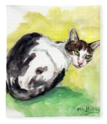 Daisy Or Little Singer Fleece Blanket