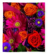 Daisy Rose Bouquet Fleece Blanket
