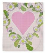 Daisy Valentine Fleece Blanket