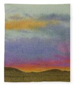 Dakota Sunset Glow Fleece Blanket
