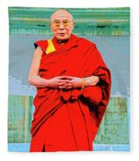 Dalai Lama Fleece Blanket