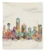 Dallas City Fleece Blanket