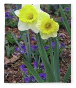 Dallas Daffodils 78 Fleece Blanket
