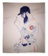 Dallas Keuchel Give Thanks Fleece Blanket