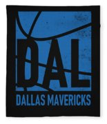 Dallas Mavericks City Poster Art Fleece Blanket