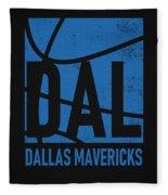 Dallas Mavericks City Poster Art Fleece Blanket